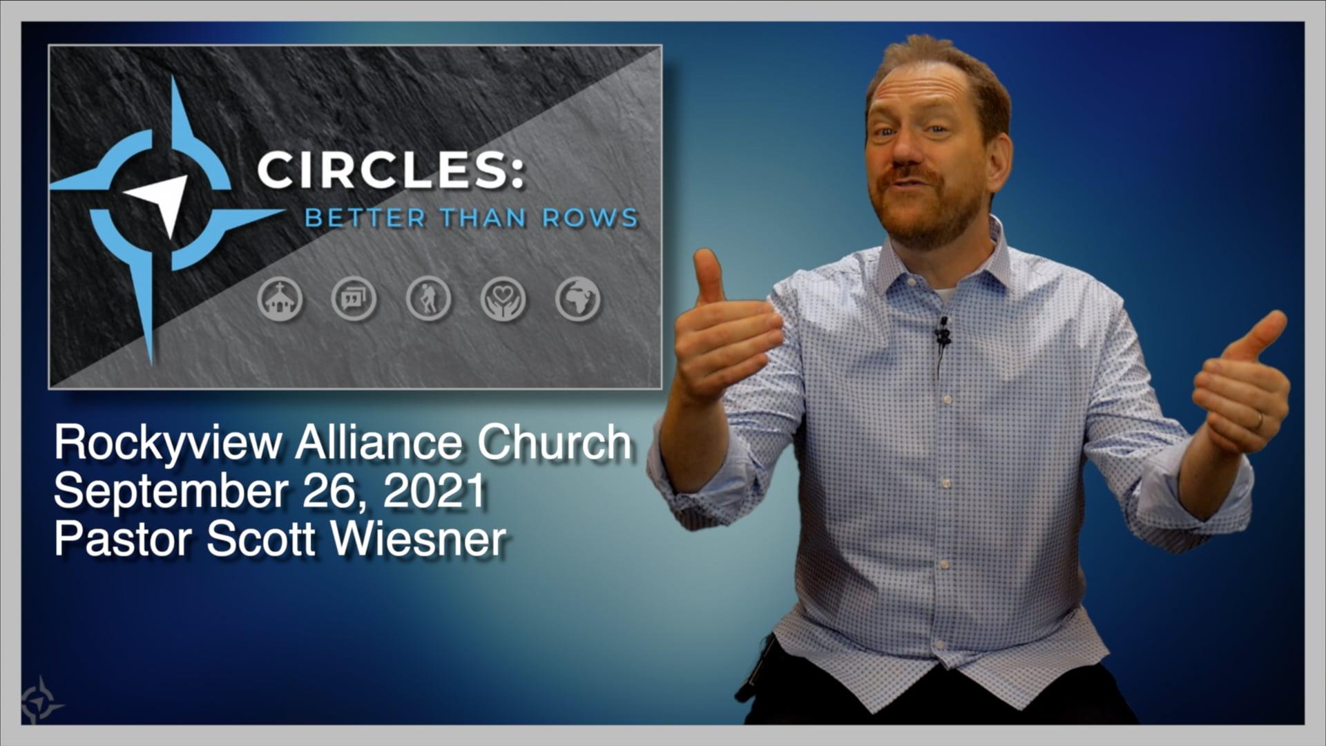 September 26, 2021 - Scott Wiesner - Circles Better Than Rows