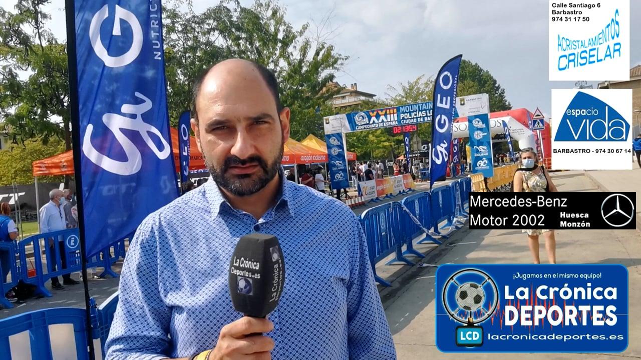 FERNANDO TORRES (Alcalde Barbastro)  23 EDICIÓN DE MOUNTAINBIKE PARA POLICIAS LOCALES.  Campeonato de España Ciudad de Barbastro / 25.09.2021