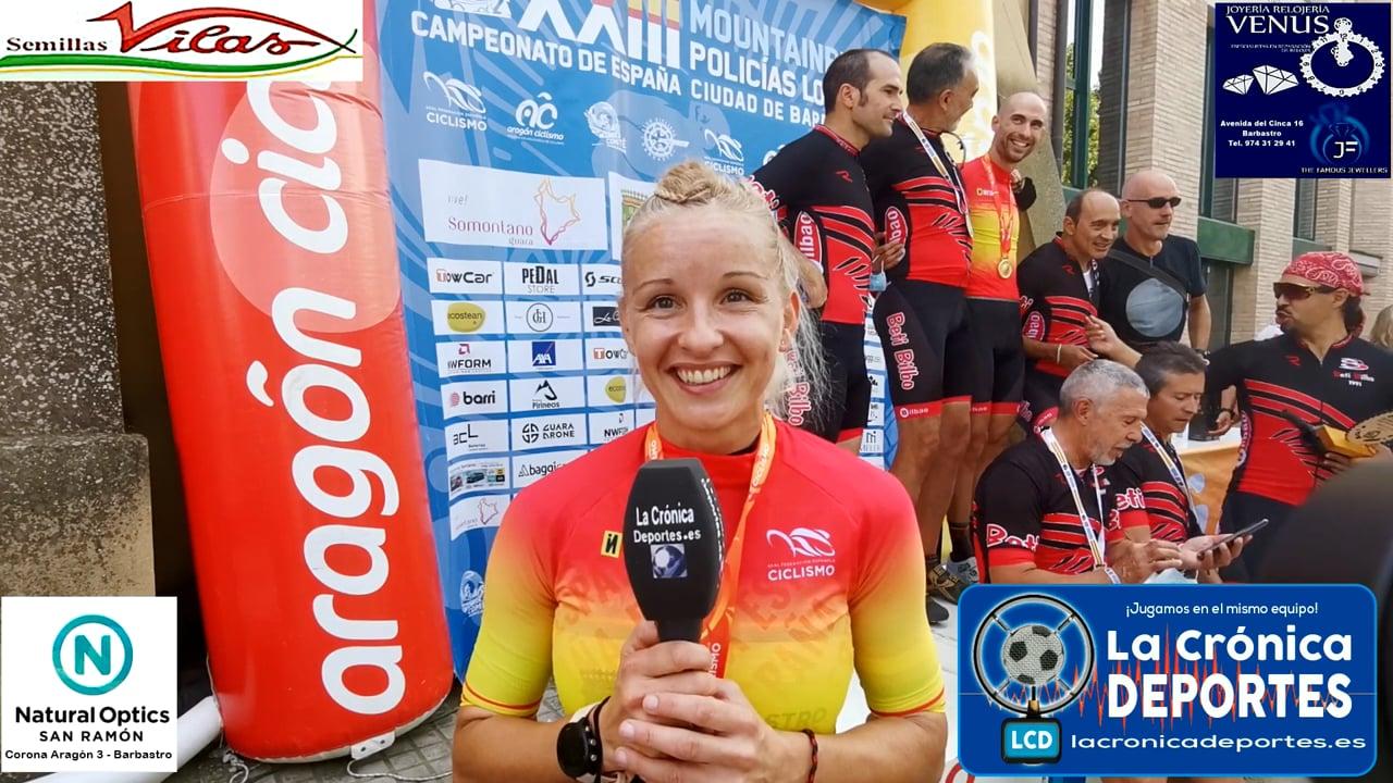 CAROLINA ALONSO (Ganadora Categoría Femenina)  23 EDICIÓN DE MOUNTAINBIKE PARA POLICIAS LOCALES.  Campeonato de España Ciudad de Barbastro / 25.09.2021