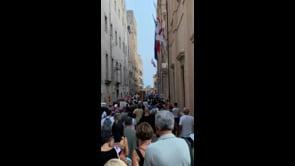 Corteo contro il Green Pass a Cagliari