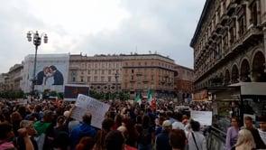 La manifestazione contro il Green Pass a Milano