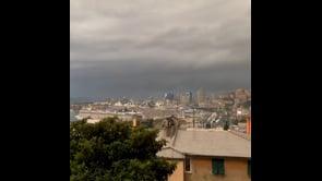 Maltempo in Liguria, temporale si abbatte su Genova