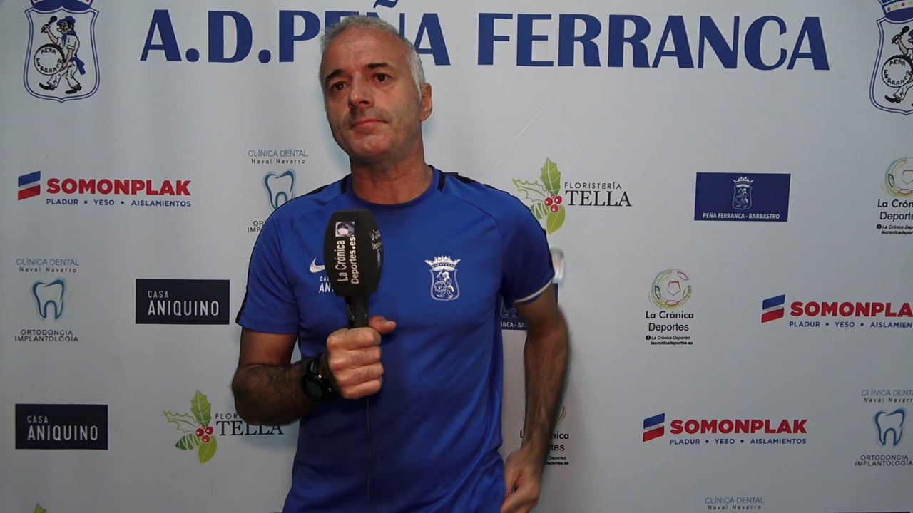 ALBERT MARTÍNEZ (Entrenador Ferranca) P. Ferranca Tella 0-3 Internacional Huesca / Jornada 3 / Preferente - Gr 1