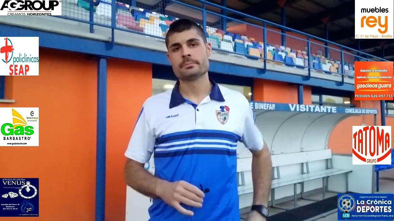 Nelson Ballarín (Jugador CD Binéfar) CD Binéfar 1-1 SD Borja / J 4 / 3ª División