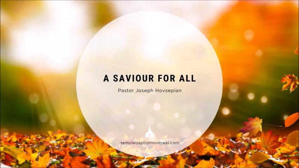 A Saviour for All