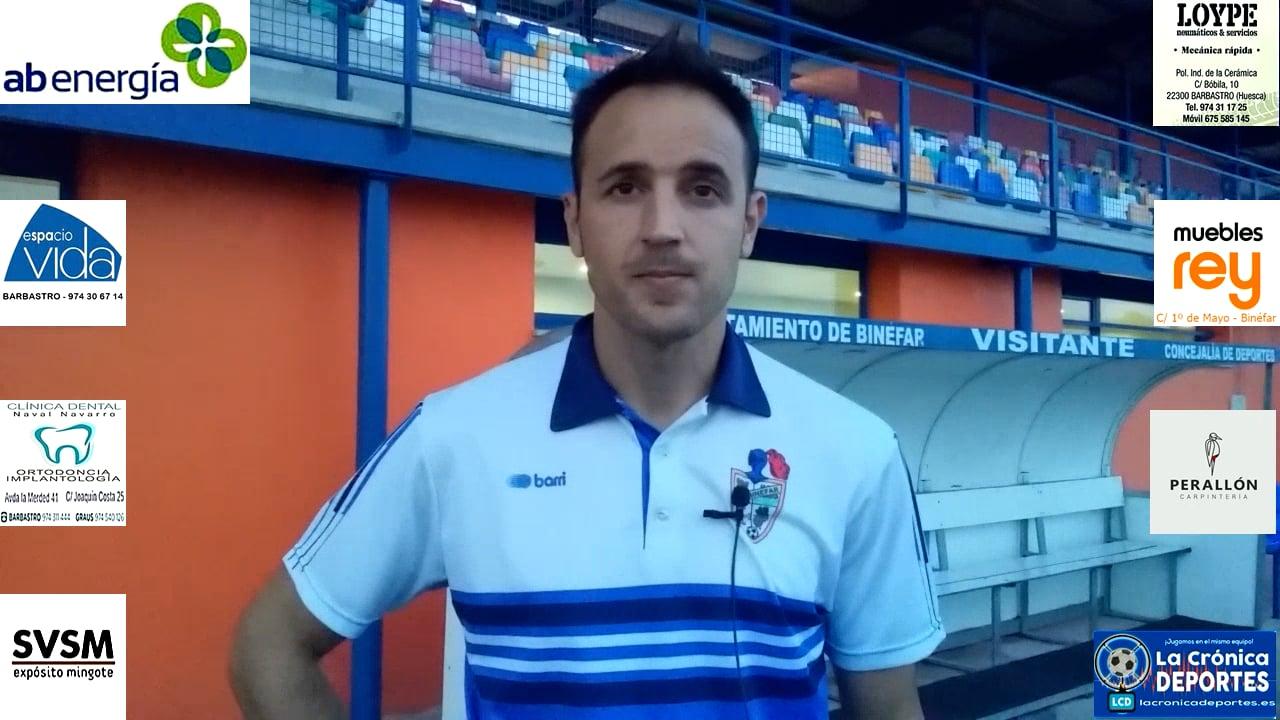 David Giménez (Entrenador CD Binéfar) CD Binéfar 1-1 SD Borja / J 4 / 3ª División