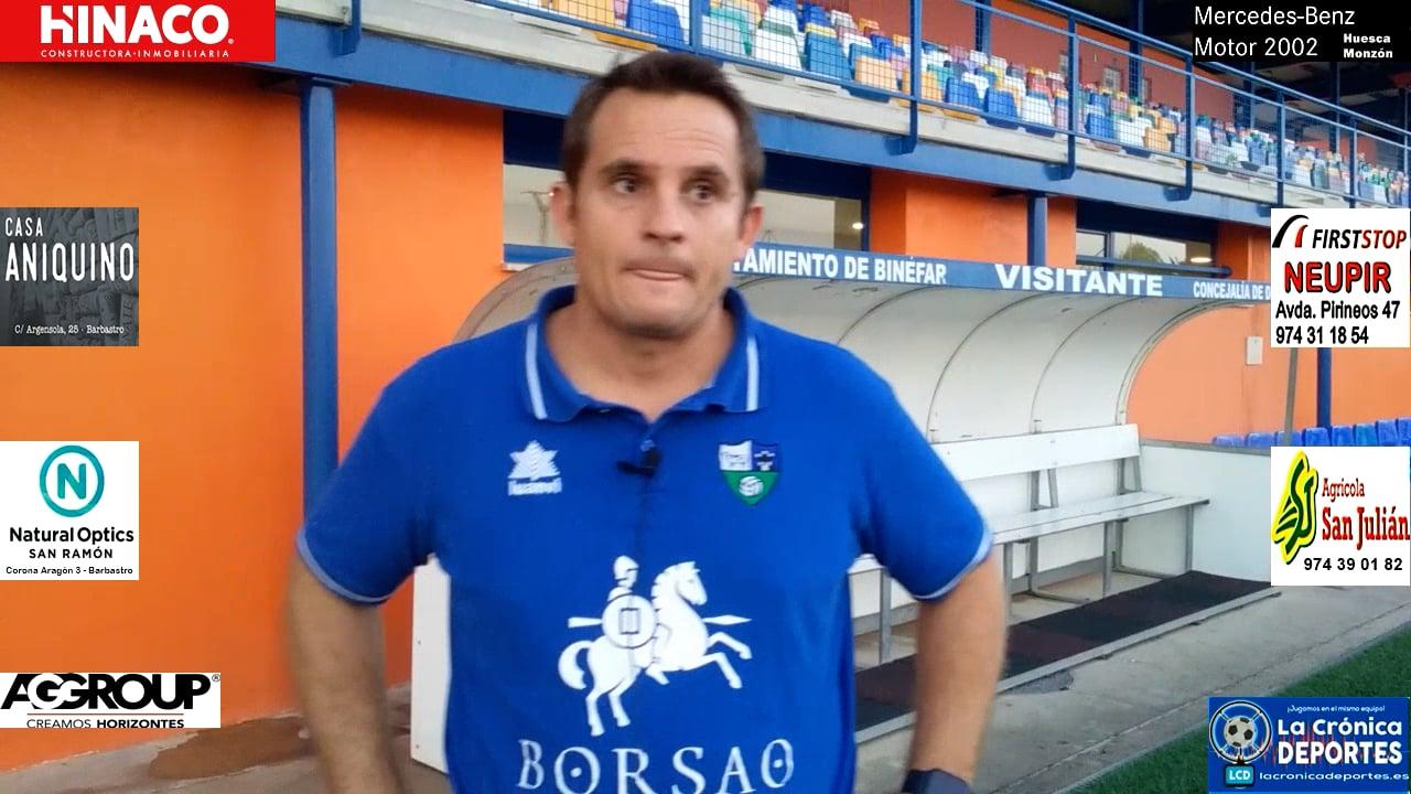 Quique Benedí (Entrenador SD Borja) CD Binéfar 1-1 SD Borja / J 4 / 3ª División