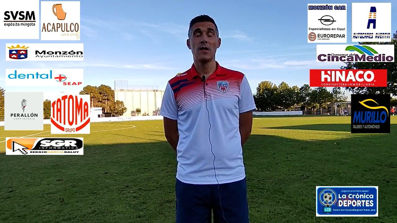 CRISTIAN ABAD (Entrenador Monzón) Santa Anastasia 1-1 At Monzón / J 4 / 3ª División