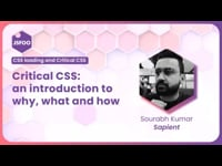 Critical CSS: an introduction to why, what and how.
