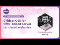 Critical CSS for CMS-based server rendered websites
