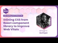 Inlining CSS from React component library to improve Web Vitals