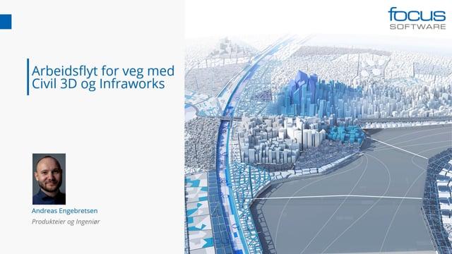 Arbeidsflyt for veg med Civil 3D og Infraworks