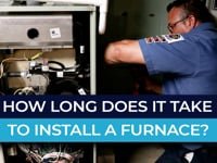 How long does it take to install a furnace?