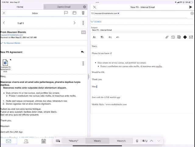 LINK: Work in Email in Two Screens 1:17