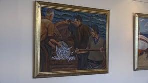 Bona afluència a l'exposició Els Pescadors i l'Escala de Josep Faig