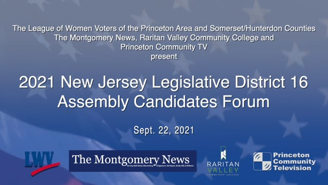 2021 New Jersey Legislative District 16 Assembly Candidates Forum
