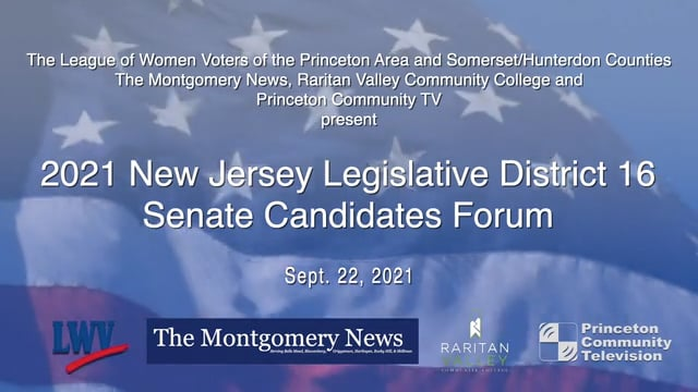 2021 New Jersey Legislative District 16 Senate Candidates Forum