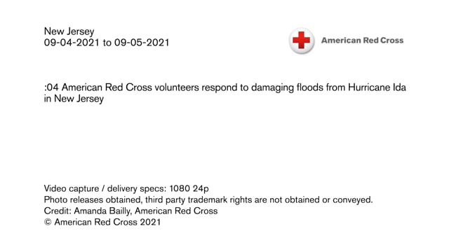 Disaster B-roll - Hurricane Ida response in New Jersey