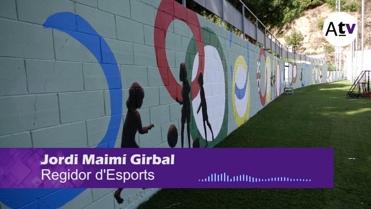 Canvi d'imatge al Camp de Futbol