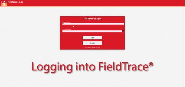 Logging into FieldTrace®