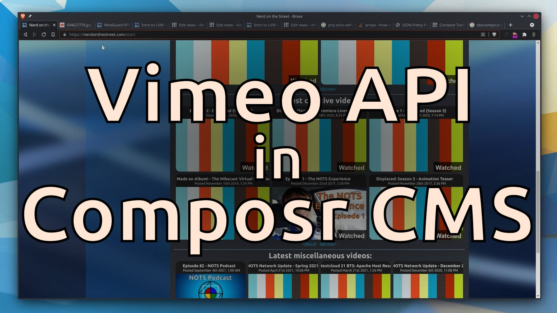 Implementing the Vimeo API in Composr CMS