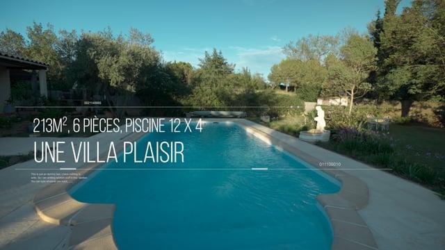 CARCASSONNE -  HAUTEURS DE TREBES   - VILLA T6  213m² PISCINE  - JARDIN 2200m2  -  DOUBLE GARAGE