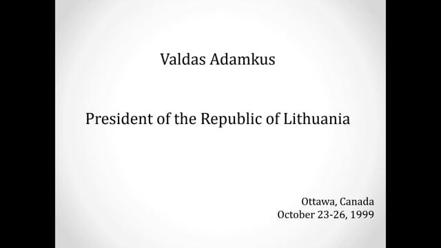 LTKAN diplomacy 30th V Adamkus in Ottawa