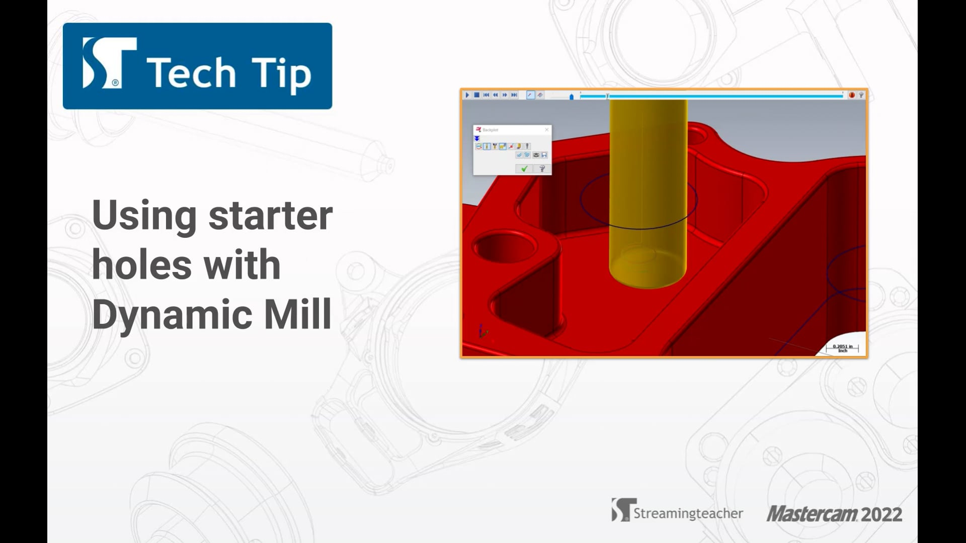 Using starter holes with Dynamic Mill