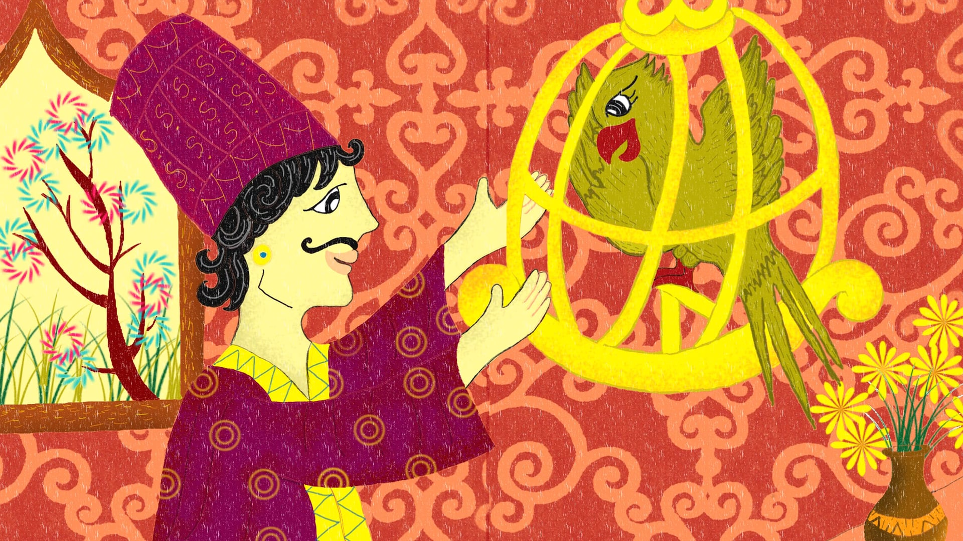The Bird in the Golden Cage | Persia