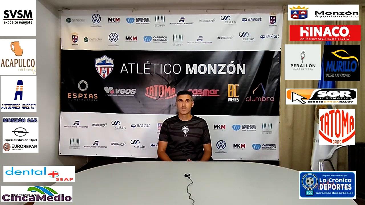 LA PREVIA / Monzón - Belchite 97/ J 5 / Cristian Abad (Entrenador AT Monzón) 3ª División