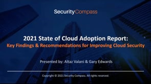 2021 State of Cloud Adoption Report Key Findings & Recommendations for Improving Cloud Security