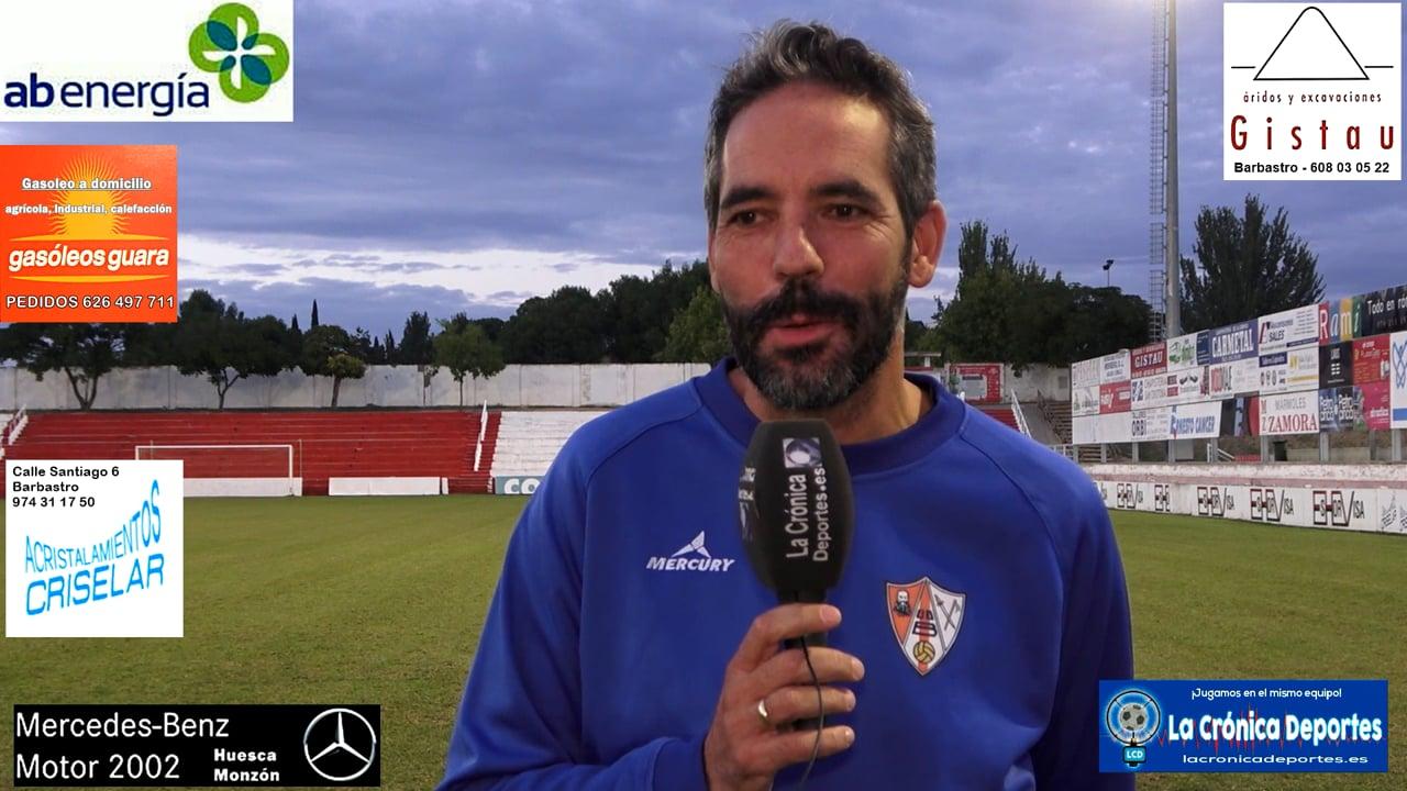 LA PREVIA / UD Barbastro - CF Illueca / RICHI GIL (Entrenador Barbastro) Jornada 5 / 3ª División