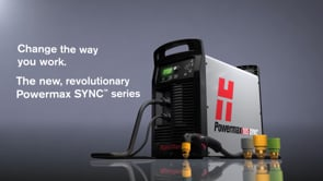 Powermax SYNC™ – change the way you work.  Introducing Powermax SYNC™, the next generation of Powermax65®/85/105 air plasma. Featuring built-in intelligence and a revolutionary single-piece cartridge consumable. Available January 17, 2022.