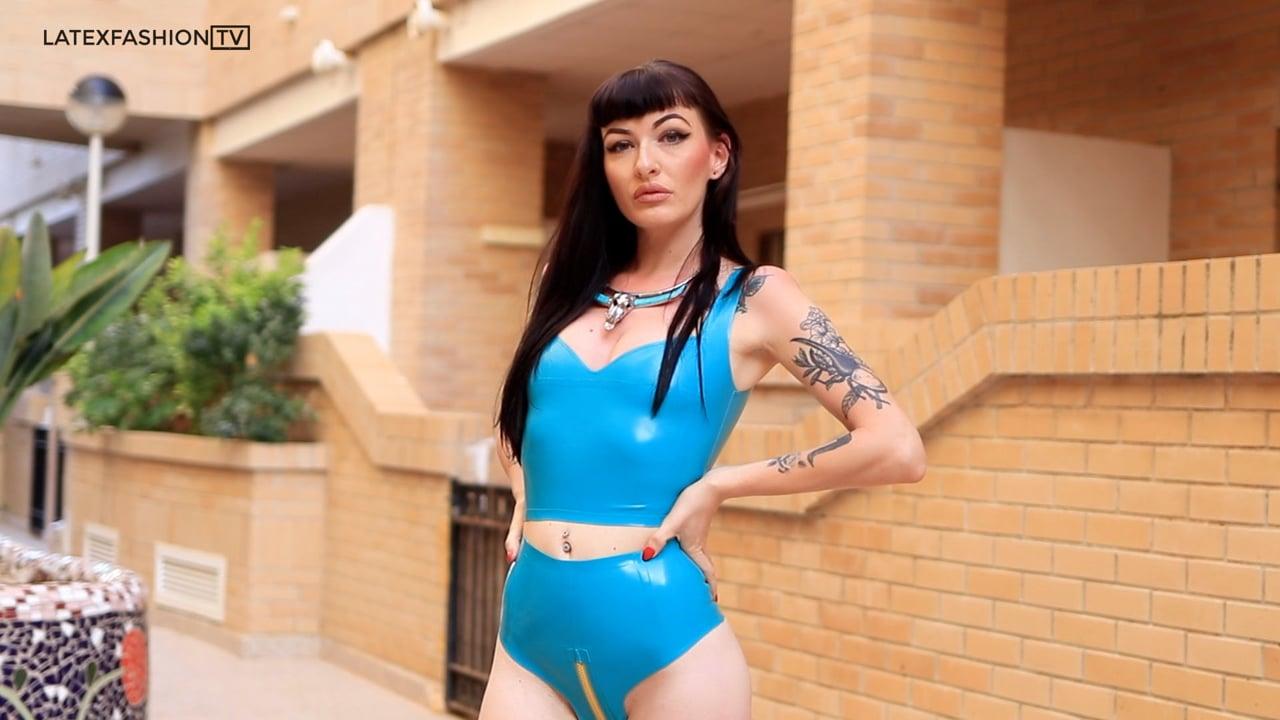 Stacie Mai in Latex Beachwear | LatexFashionTV