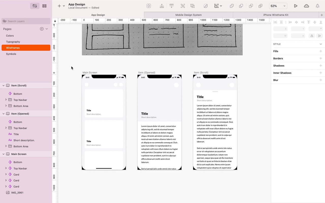 From Low to High Fidelity Wireframe