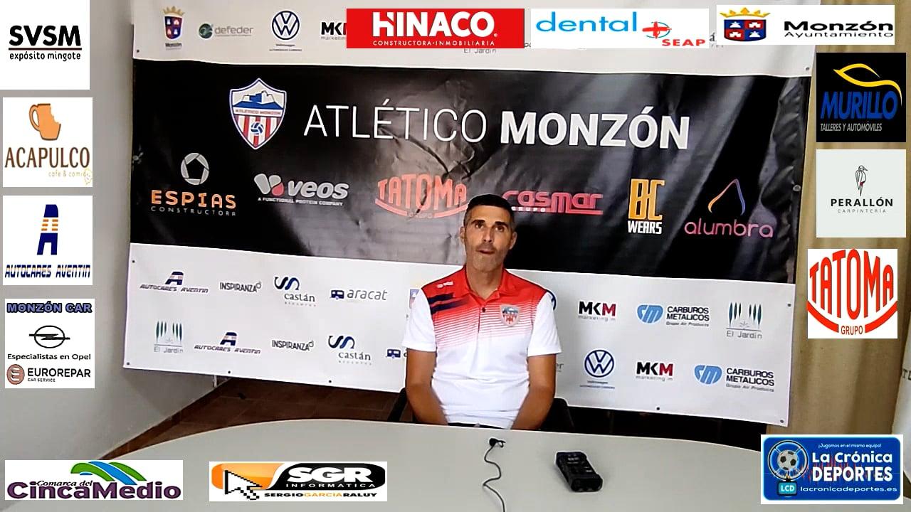 CRISTIAN ABAD (Entrenador Monzón) AT Monzón 1-1 Belchite 97 / J 5 / 3ª División