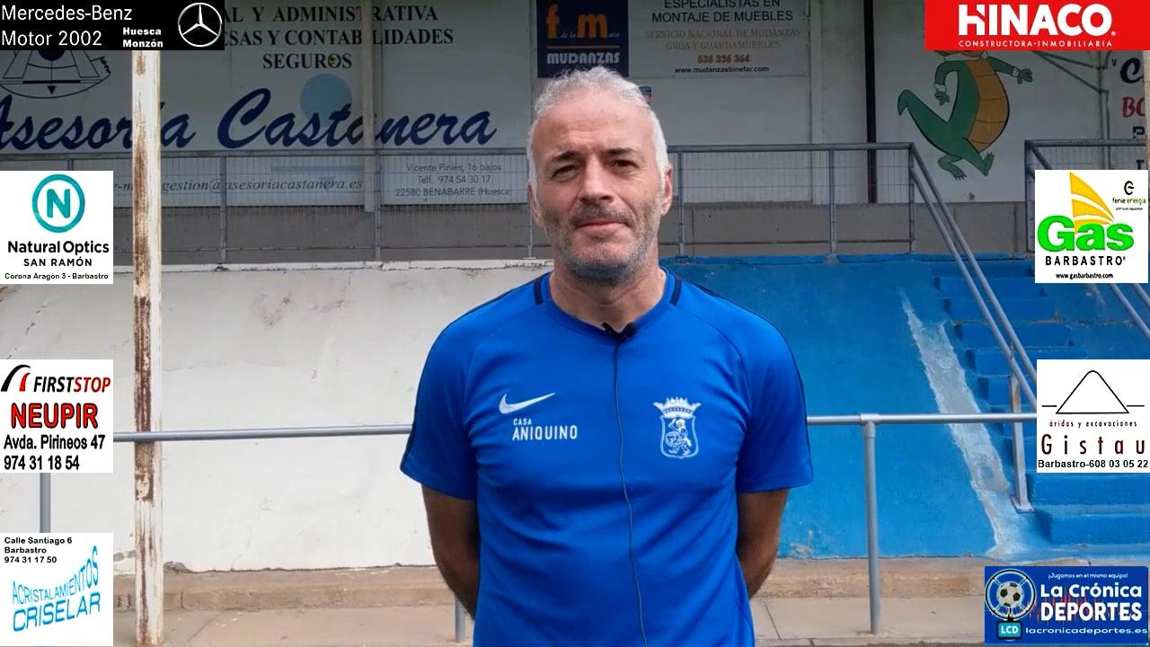 ALBERT MARTÍNEZ (Entrenador Peña Ferranca) Tamarite 5-0 Peña Ferranca / J4 / Preferente G-1