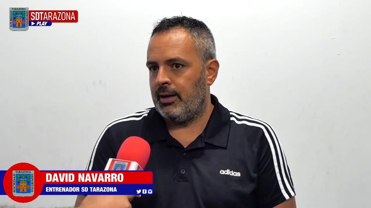 DAVID NAVARRO (Entrenador Tarazona) CD Ebro 0-0 SD Tarazona / J 5 / 2ª RFEF - Grupo 3 / Fuente Facebook SD Tarazona
