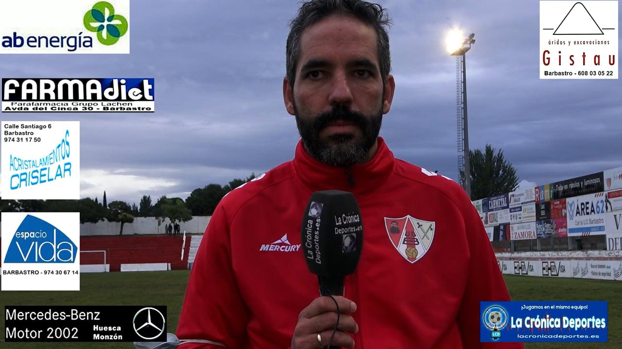 RICHI GIL (Entrenador Barbastro) UD Barbastro 1-0 CF Illueca / Jornada 5 / 3ª División
