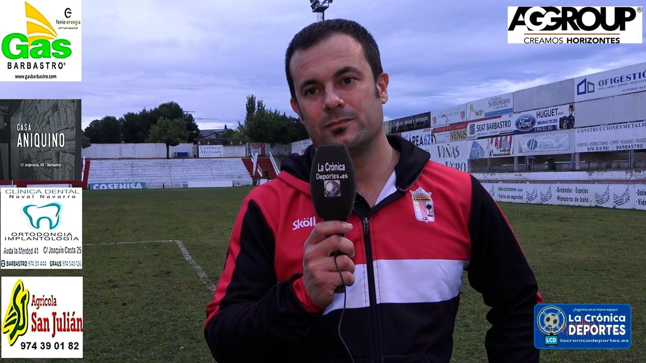 JAVI ROMERO (Entrenador Illueca) UD Barbastro 1-0 CF Illueca / Jornada 5 / 3ª División
