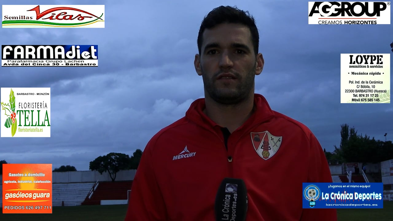 HUGO GISTAU (Jugador Barbastro) UD Barbastro 1-0 CF Illueca / Jornada 5 / 3ª División