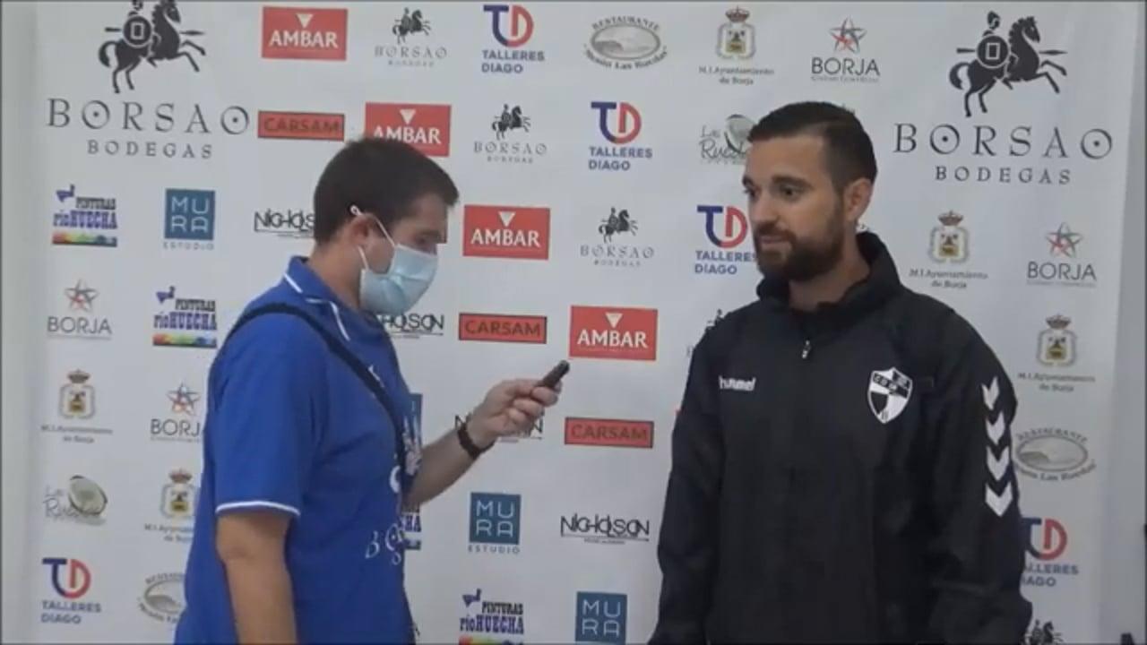 JAVIER GENOVÉS (Entrenador Robres) SD Borja 1-0 CD Robres / Jornada 5 / 3ª División