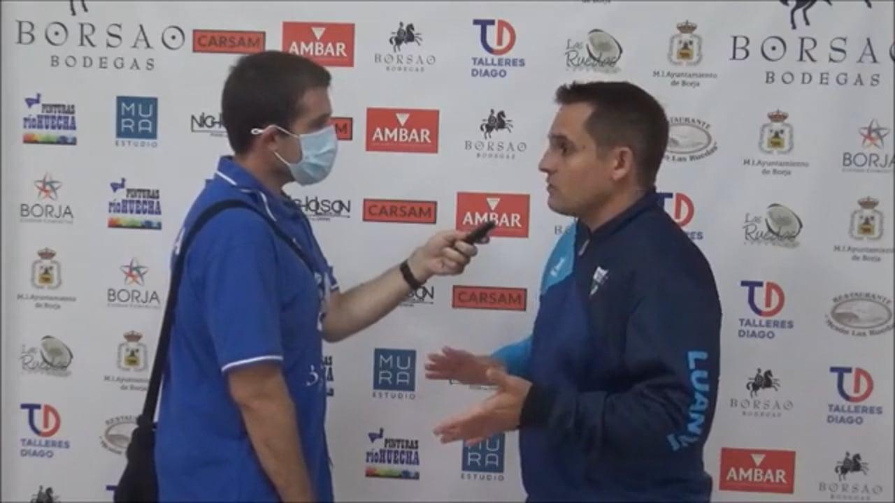 QUIQUE BENEDÍ (Entrenador Borja) SD Borja 1-0 CD Robres / Jornada 5 / 3ª División