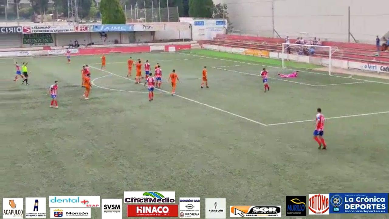 (RESUMEN y GOLES) AT Monzón 1-1 Belchite 97 / J 5 / 3ª División