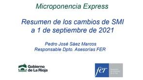 Micropildora express - Resumen de los cambios de SMI a 1 de septiembre de 2021