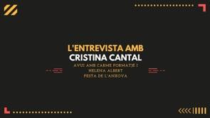 L'Entrevista amb Cristina Cantal  - Festa de l'Anxova 2021