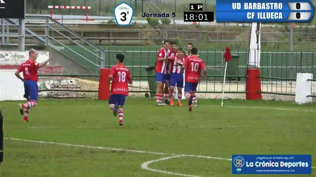 GOL DE GULIAS / UD Barbastro 1-0 CF Illueca / Jornada 5 / 3ª División