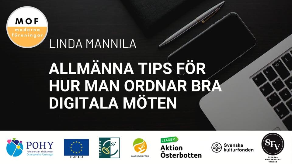 Allmänna tips om att hålla möten på distans av Linda Mannila