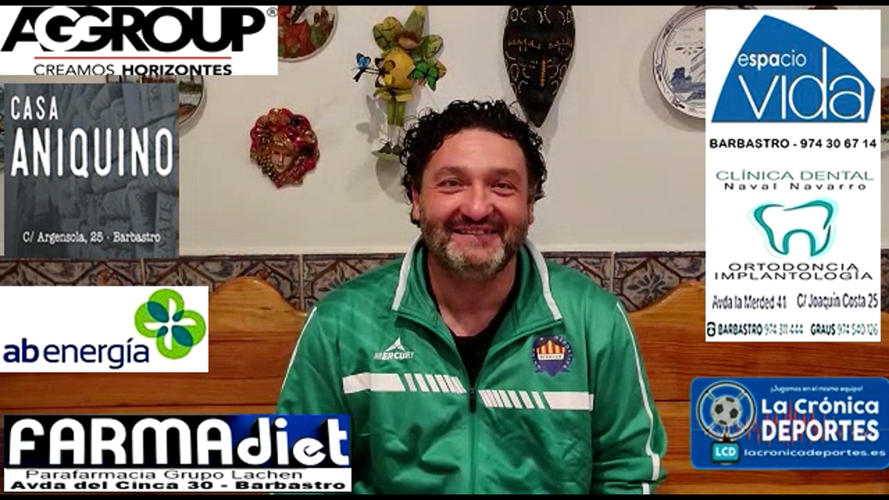 MIGUEL GARCÍA (Entrenador Biescas) UD Biescas 1-2 CD Caspe / Jornada 5 / 3ª División
