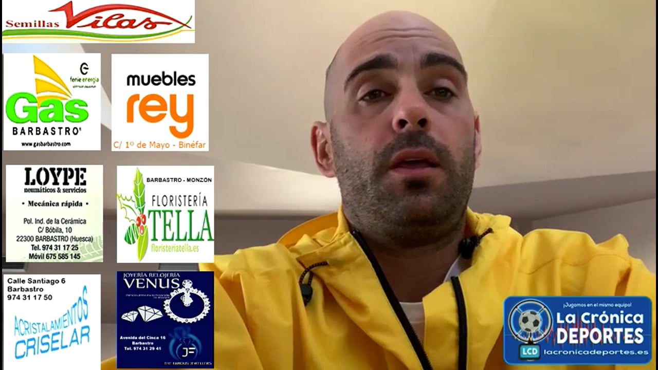 CARLOS GIL (Entrenador Caspe) UD Biescas 1-2 CD Caspe / Jornada 5 / 3ª División